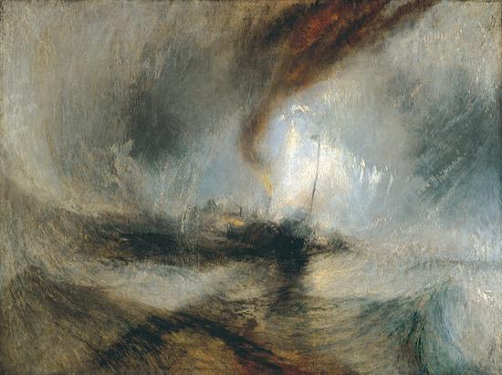 Tormenta de nieve – Vapor en la boca del puerto, de Joseph Turner