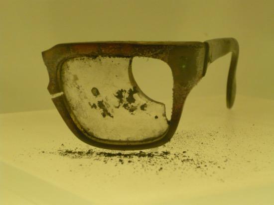 Restos de las gafas de Allende