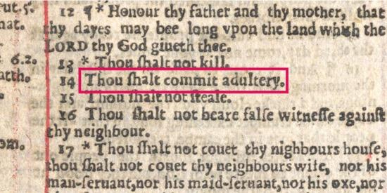 La Biblia que ordenaba cometer actos impuros