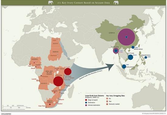 Rutas de transportación de marfil (2013)