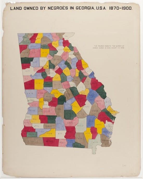 Terrenos propiedad de los negros en Georgia, 1870-1900