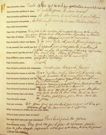 Las respuestas de Proust al cuestionario