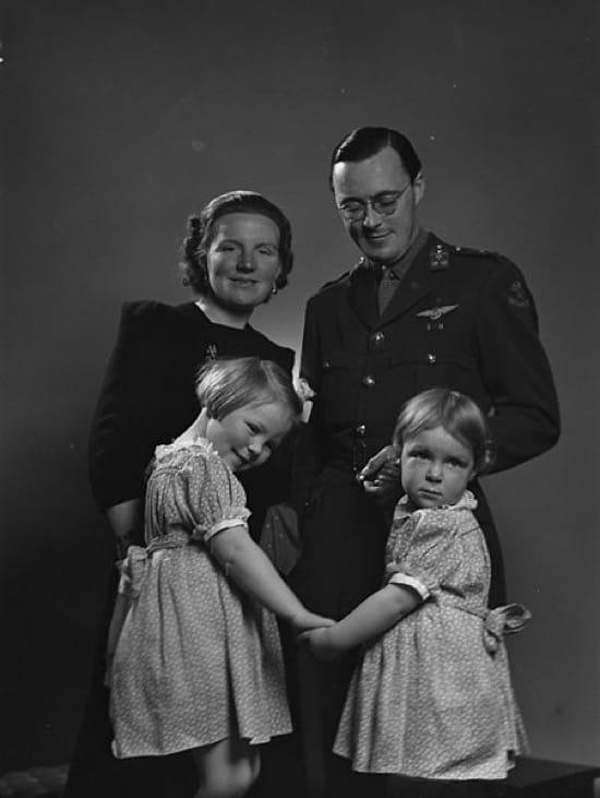 La princesa Juliana y el príncipe Bernhar en Ottawa en 1942