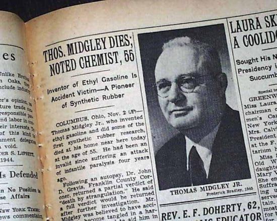 Thomas Midgley, el inventor de la gasolina con plomo y los CFC