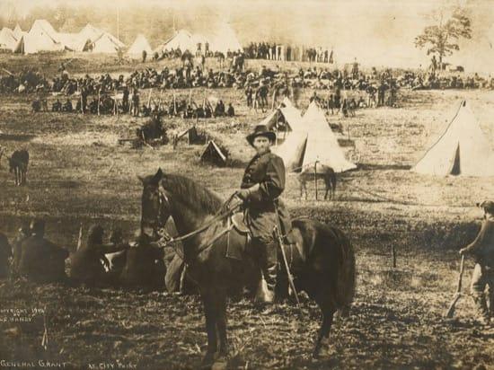 El fotomontaje de Ulysses S. Grant y las fotos originales que lo componen