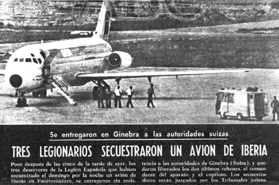 Los tres legionarios que secuestraron un avión y volaron a Suiza