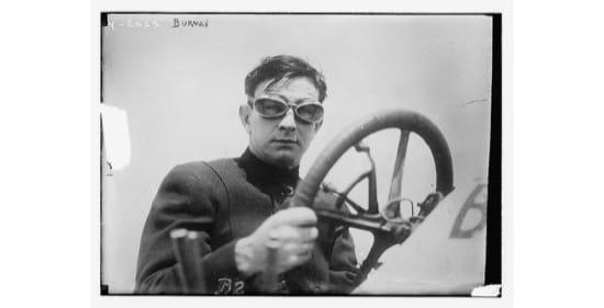 Bob Burman, piloto de carreras. En torno a 1910.