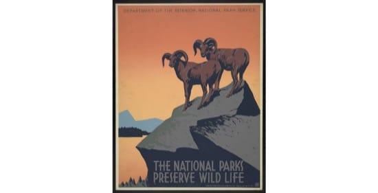 Póster promocional del servicio de Parques Naturales. 1936-39.