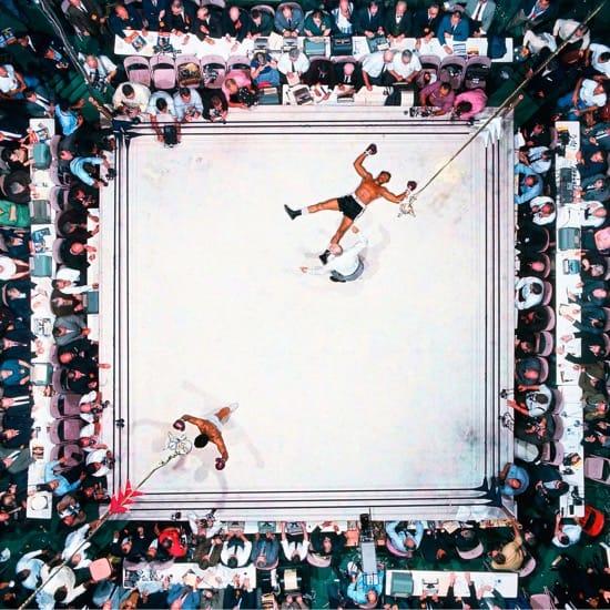 Neil Leifer foto cenital de Ali contra Williams
