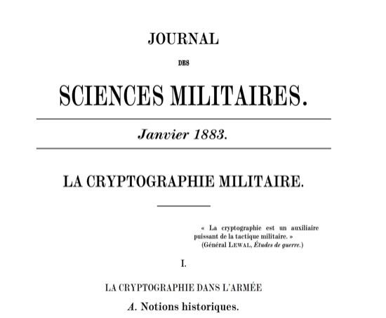 Los principios de Kerckhoffs y la criptografía moderna
