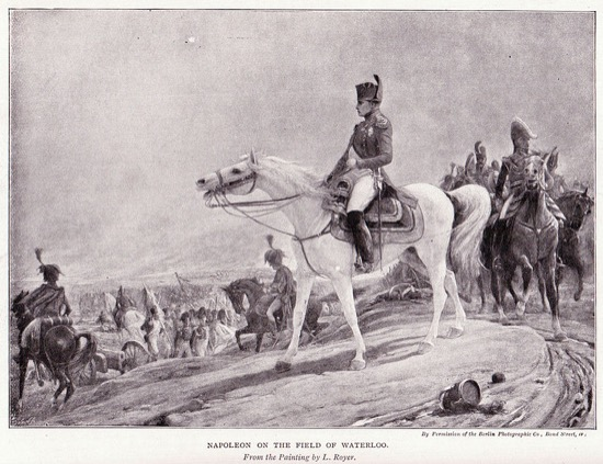 Napoleón en el campo de Waterloo, de Lionel Royer
