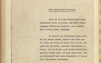 El testamento y las últimas voluntades de Hitler