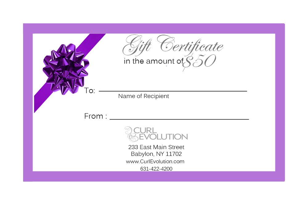 gift certificate best curly hair products
