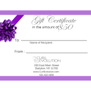 $50 Hair Salon Gift Certificate Long Island