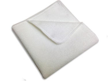 white microfiber towel