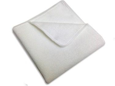 white microfiber towel
