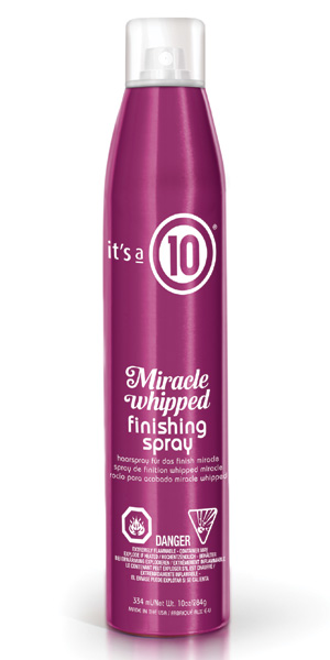 Curly Hair whipped finishing spary