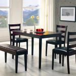 Coaster 150232 Taraval Table Chairs And Bench Curley S Furniture Store Des Moines Iowa