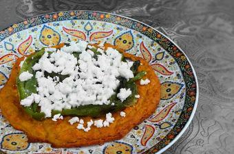 Aardappelpizza feta paprika