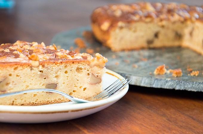 Cake recept met honing yoghurt en walnoot
