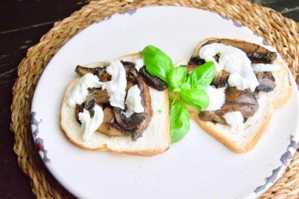 Recept Broodje portobelllo met mozzarella