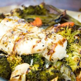 Recept Kabeljauw met groenten uit de oven