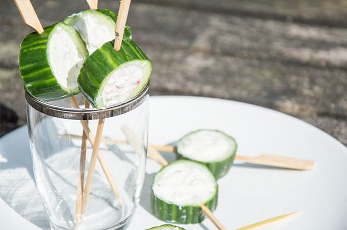 Recept Komkommer met zuivelspread
