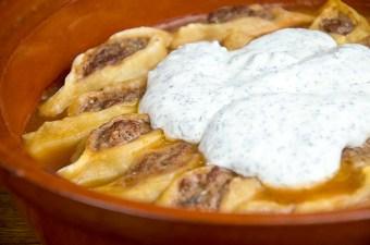 Recept Pasta met gehakt en yoghurtsaus