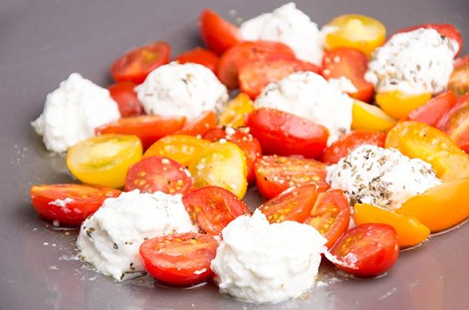 Recept Ricotta met tomaat