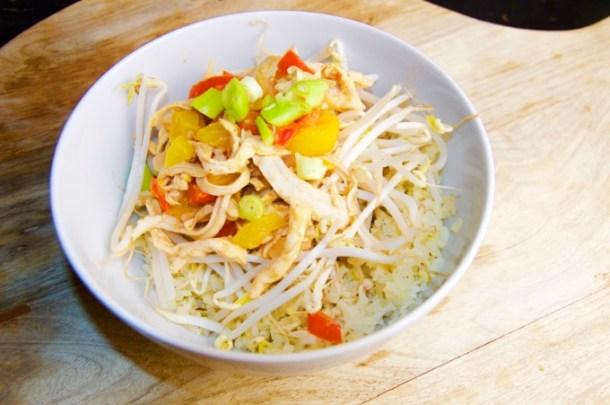 Recept Rode curry met kip en paprika