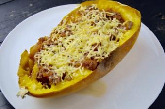 Recept Spaghettipompoen met bolognesesaus