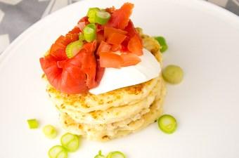 Recept Zalm op pancakes