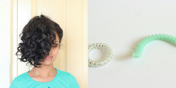How to pineapple long curly hair with a (deliberately)broken invisibobble 6237464d505