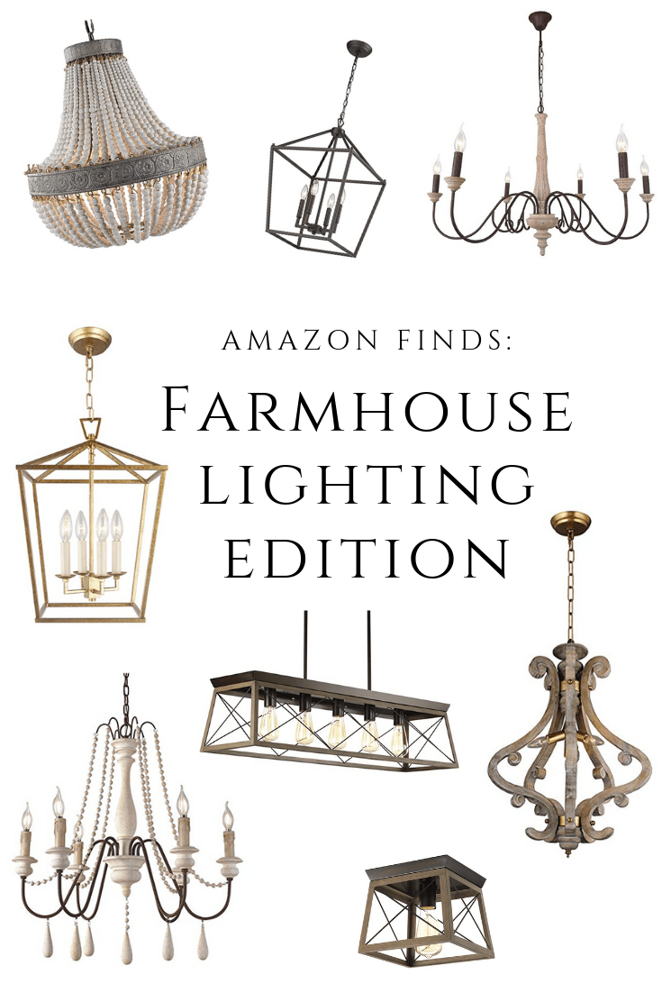 Amazon Finds: Farmhouse Lighting Edition!