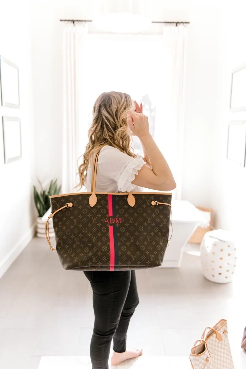 Louis Vuitton Neverfull Tote Size Gm Vs Mm Comparison Curls And