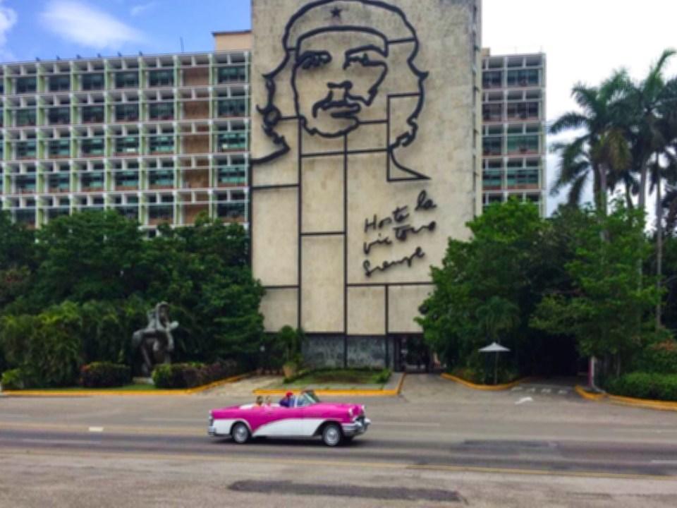 Classic car Plaza de la revolucion - Cuba