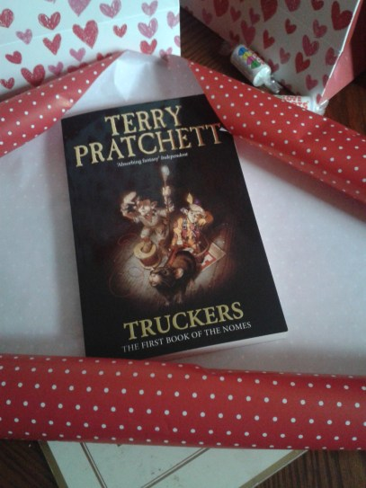 A great excuse to start Kieran on his first Terry Pratchett book!