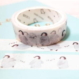 stationery, washi tape. peguins