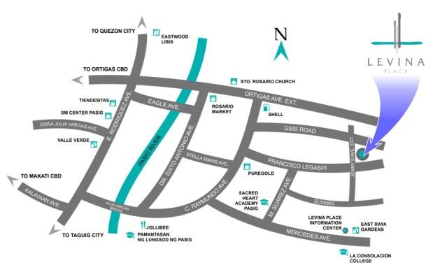Levina Location Map