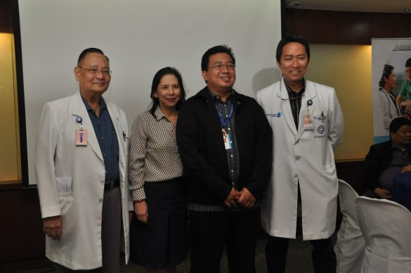 (from left) Dr. Alfredo R.A. Bengzon, M.D., M.B.A., President and Chief Executive Officer; Margaret Bengzon, Group Head, Strategic Services Group; Dr. Mike Muin, Health IT Head; and Dr. Eugenio Jose Ramos, Group Head, Medical Services Group.