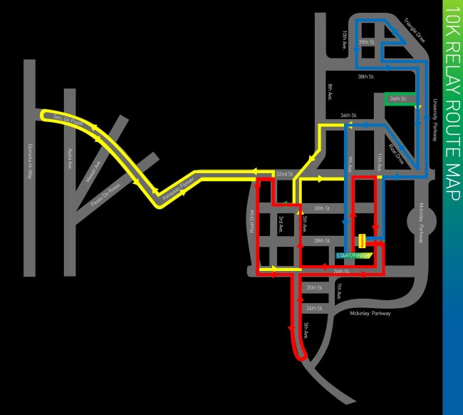 10k Relay Route Map