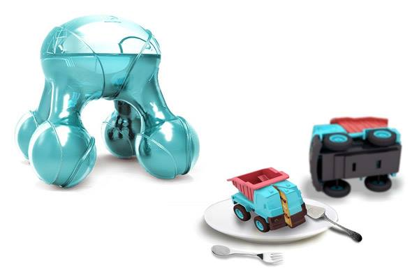 The Atomium 3D food printer concept, aims to promote healthy lifestyles by incorporating play into food preparation.