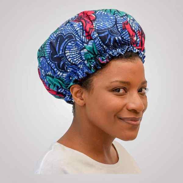 bonnet elastique curly nights jungle wax satin