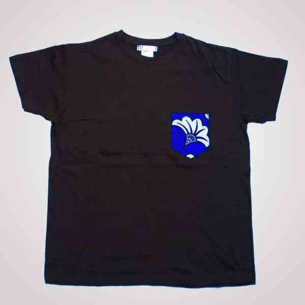 tshirt blanc boyfriend flora blue poche en wax pyjama 100% coton