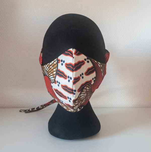 masque anti-projection lavable réglable coton wax coronavirus covid-19 protection visage nez bouche CITROUILLE