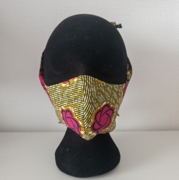 masque anti-projection lavable réglable coton wax coronavirus covid-19 protection visage nez bouche FLORA