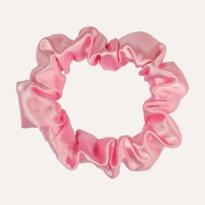 scrunchie xxl satin curly nights girly pink