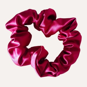 scrunchie xxl satin curly nights dark cherry