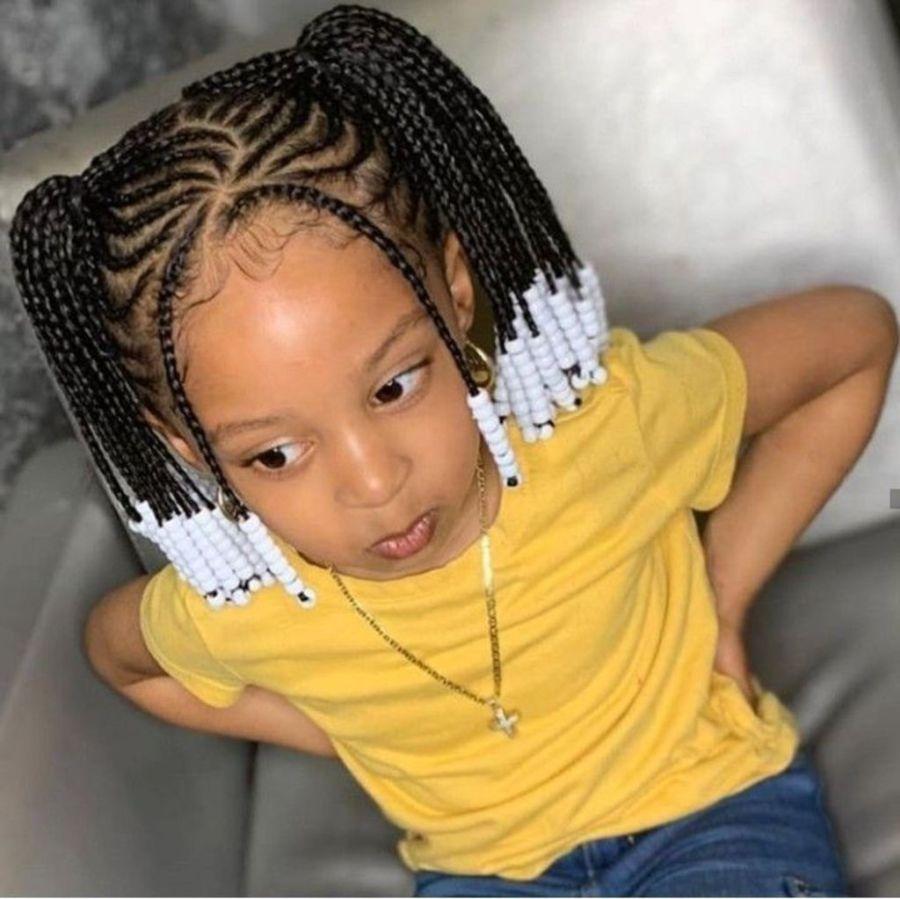 enfant, cheveux bouclés, cheveux crépus, cheveux frisés, nattes collées, perles, inspiration, idées
