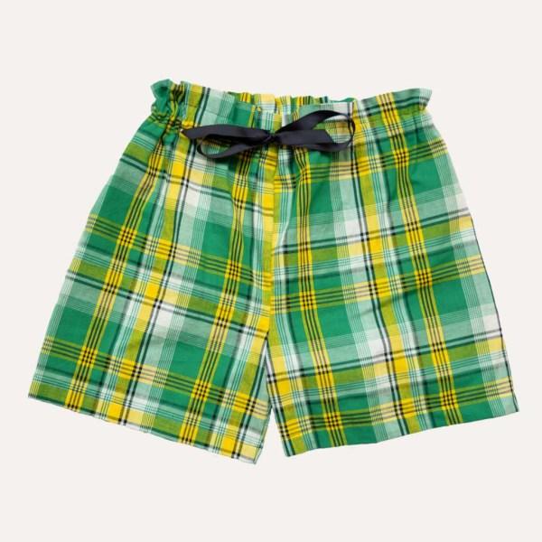 Short Pyjama Madras Vert Coton Curly Nights